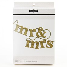 Celebrate It Occasions Mr. & Mrs. Banner, Gold Glitter